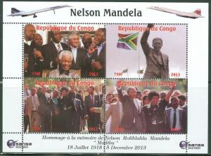CONGO TRIBUTE TO NELSON MANDELA SOUTH AFRICA SHEET IV CONCORDE SPACE