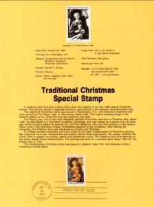 US SP662 Christmas Madonna 2107 Souvenir Page FDC