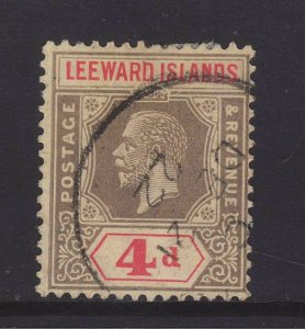 1922 Leeward Is 4d Wmk Mult Crown CA Fine Used SG52