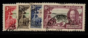 SOUTHERN RHODESIA GV SG31-34, SILVER JUBILEE set, USED. Cat £42.