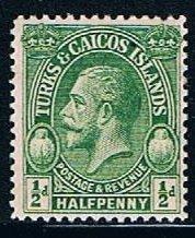 Turks and Caicos 45, 0.5p George V, MNH, VF, discolored gum