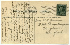 US 357 1c Franklin Blue Paper on Post Card SVC $220