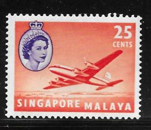 Singapore 37: 25c Douglas DC-4M2 Argonaut aircraft, MH, F-VF