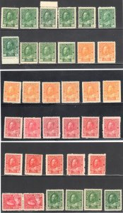 Canada #104 to 122 Mint NH Admiral Collection + varieties--95 Stamps C$22,500.0