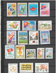 TUNISIA: LOT TU01 /**GOOD LOT OF MODERN ISSUES**/  Complete Sets / MNH-2 images