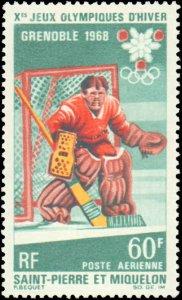 St. Pierre & Miquelon #C37-C38, Complete Set(2), 1968, Olympics, Never Hinged