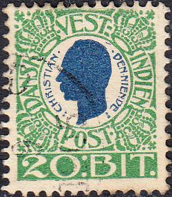 Danish West Indies #33    Used