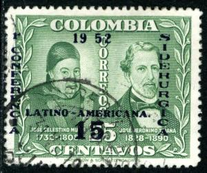 COLOMBIA #610, USED- 1952 - COLOMBIA087