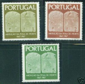 PORTUGAL Scott 1014-16 MNH** Tables of the Law CV $3.55