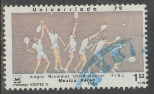 MEXICO C612, TENNIS University Games. USED, VF. (735)