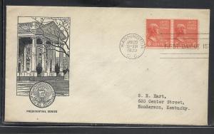 US #846-80 Adams Sudduth cachet addressed