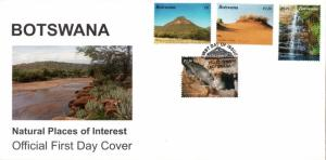 Botswana - 2003 Natural Places of Interest FDC SG 1000-1003