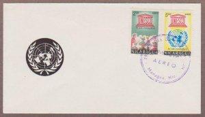 Nicaragua Airmail # C502 - C503 UNESCO FDC - I Combine S/H