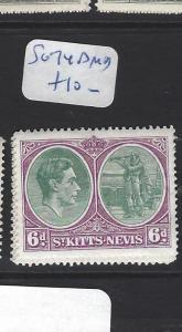 ST KITTS NEVIS  (PP2806B)  KGVI  6 D  SG 74D     MOG