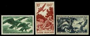 1947 French Guiana #C18-C20 Airmail - OGNH - VF/XF - CV$64.50 (ESP#1706)