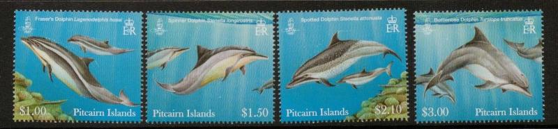 PITCAIRN ISLANDS SG849/52 2012 DOLPHINS MNH