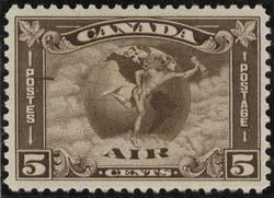 Canada USC #C2 Mint VF-H Cat. $90.00 1930 5c Mercury Air