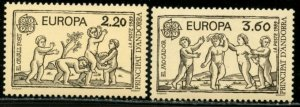 ANDORRA (FRENCH) Sc#372-373 1988 Europa Issue Complete Set Mint NH