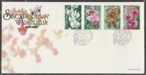 1998 Singapore-Australia Joint Issue - Orchids FDC SG#944-947