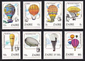 Zaire Bicentenary of Manned Flight 8v SG#1201-1208 MI#867-874 SC#1160-1167