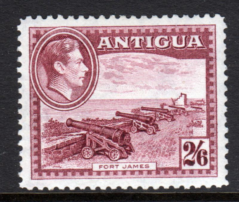 Antigua KGVI 1938 2/6 2s6d Maroon SG106a Mint Lightly Hinged