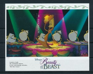[23277] St. Vincent 1992 Disney Movie Beauty and the Beast MNH