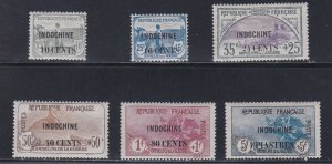Indo-China # B8-13, Surcharged French Stamps, Hinged, 1/2 Cat.