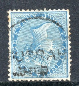 India Used in Basra: 1873 QVI India ½a. cancelled BUSRAH