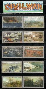 4522-3,4664-5,4787-8,4910-1,4980-1 Civil War Series Complete 10 singles