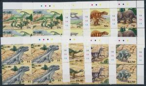 Nauru stamp Dinosuars set corner blocks of 4 2006 MNH Mi 638-645 WS186990