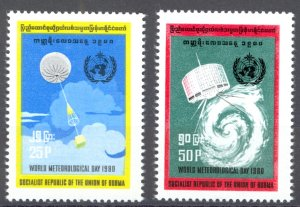 Burma Sc# 275-276 MNH 1980 World Meteorological Day