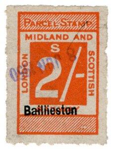 (I.B) London Midland & Scottish Railway : Parcel 2/- (Baillieston)