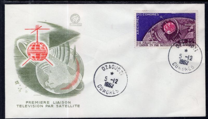 Comoro Islands C7 Space U/A FDC