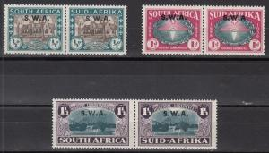 South West Africa Scott B9-11 Mint hinged (Catalog Value $69.00)