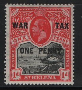 ST. HELENA MR2, HINGED, 1919 Surcharged