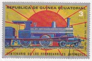 Equitorial Guinea, SW253, CTO-NH, 1972, Japanese Railway