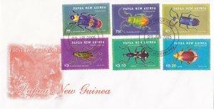 PNG60) PNG 2005 Generic Bright Orange cachet FDC. Bearing: 2005 Beetles set