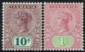 TASMANIA 1892 QV TABLET 10D AND 1/- WMK TAS