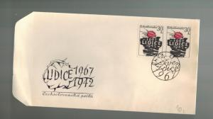 1967 Lidice Czechoslovakia 25th Anniversary Memorial cover Victims Massacre