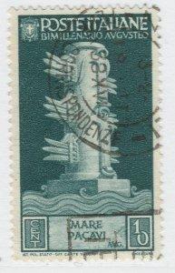 Italy Kingdom Caesar Augustus Roman Emperor 1937 10c Used Stamp A19P46F910
