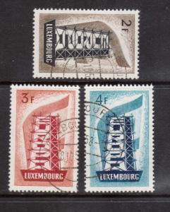 Luxembourg #318 - #320 VF Used Set