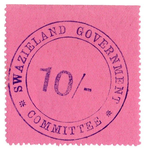 (I.B-BOB) Swaziland Revenue : Duty Stamp 10/-