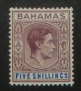 Bahamas 112. 1938 5/- Purple and ultramarine KGVI