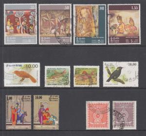 Sri Lanka Sc 478//AR7 used. 1973-90 issues, 3 cplt sets + 4 better singles.