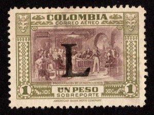 Colombia Scott C183 Used.