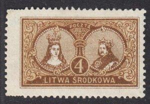 Central Lithuania Scott 38 perf 13 1/2 F+ mint OG HH. Lot # B
