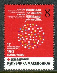 213 - MACEDONIA 2016 - Red Cross - MNH Set