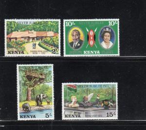 KENYA #84-87  1977 QEII SILVER JUBILEE  MINT  VF NH  O.G  a