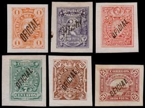 Paraguay Scott O1-O5, O7 (1886) Mint H F-VF, CV $42.00
