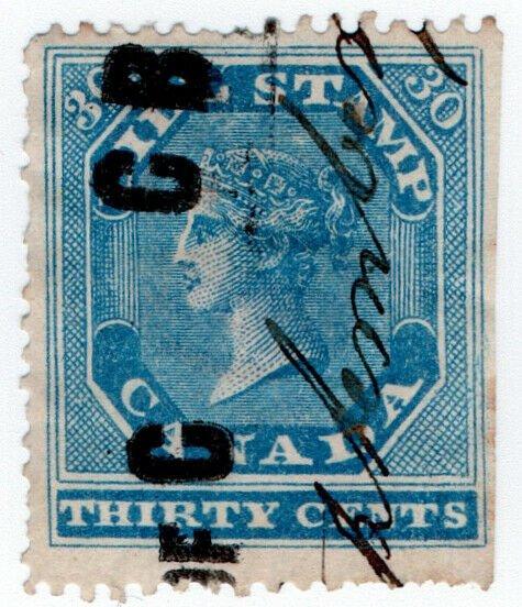(I.B) Canada Revenue : Bill Stamp 30c